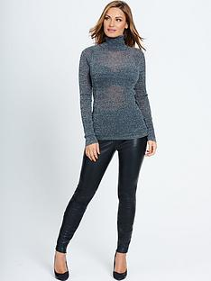 samantha-faiers-samantha-faiersnbspskinny-metallic-yarn-polo-neck-top
