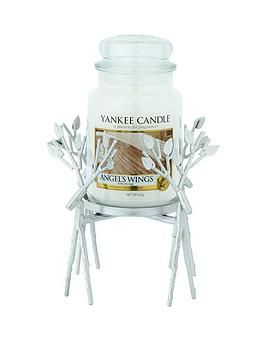 yankee-candle-silver-reindeer-jar-holder-with-classic-large-jar-candle-ndash-angelrsquos-wings
