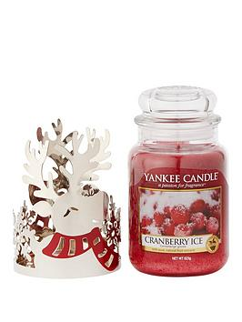 yankee-candle-silver-holiday-reindeer-jar-holder-with-classic-large-jar-cranberry-ice
