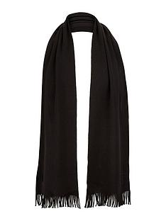 hugo-boss-wool-mens-scarf-ndash-black
