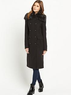 south-statement-collar-double-breasted-coatnbsp