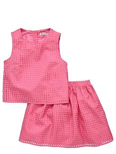 freespirit-girls-organza-check-top-and-skirt-set