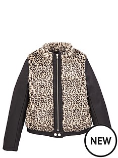 freespirit-girls-leopard-faux-fur-bomber-with-pu-sleeves