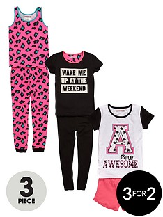 freespirit-girls-awesome-print-pyjamas-set-6-piece