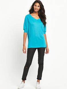 south-34-sleeve-casual-v-neck-topampnbsp