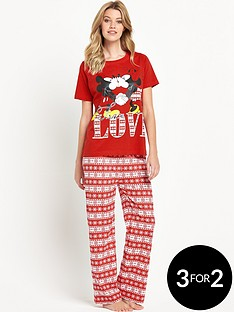 minnie-mouse-minnie-amp-micky-love-pj