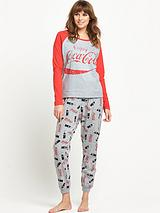 COCA COLA RAGLAN TOP CUFFED PANT SET