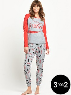 coca-cola-coca-cola-raglan-top-cuffed-pant-set
