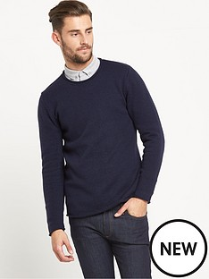 goodsouls-goodsouls-sausage-neck-jumper-navy-marl
