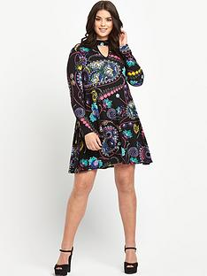 so-fabulous-keyhole-high-neck-jersey-swing-dress