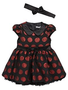 ladybird-baby-girls-spot-dress-with-headband-set-2-piece