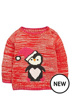 ladybird-baby-girls-knitted-penguin-christmas-jumper