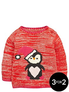ladybird-baby-girls-novelty-knitted-penguin-jumper