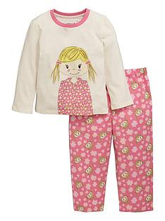 ladybird-toddler-girls-rag-doll-pyjamas-with-sleepover-bag-1-7-years