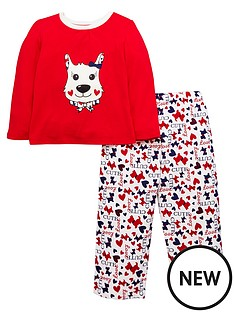 ladybird-toddler-girls-scottie-dog-pyjamas-with-sleepover-bag-1-7-years