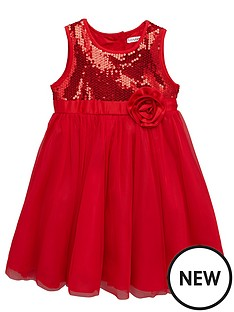 ladybird-toddler-girls-red-sequin-dress-with-large-corsage-1-7-years
