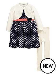 ladybird-girls-shrug-spot-dress-and-tights-set-3-piece-12-months-7-years