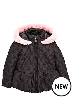 ladybird-toddler-girls-bow-quilted-coat-with-fur-trim-1-7-years
