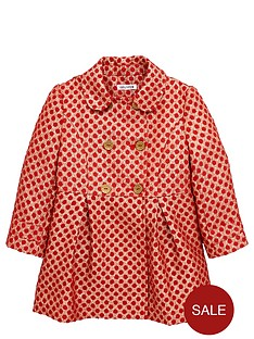 ladybird-girls-gold-spot-jacquard-smart-coat-12-months-7-years