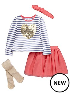 ladybird-girls-pretty-sequin-and-striped-top-with-tutu-skirt-lurex-tights-and-headband-set-4-piece