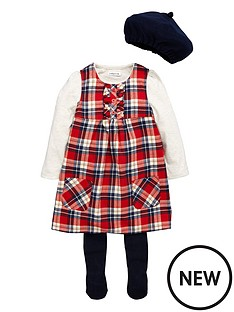 ladybird-toddler-girls-4-piece-tartan-pinny-amp-berret-set-1-7-years