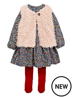 ladybird-toddler-girls-fur-gillet-floral-dress-amp-tight-set-1-7-years