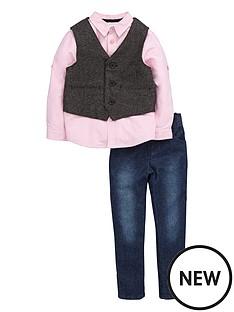 ladybird-toddler-boys-tweed-waistcoat-shirt-amp-jean-set-1-7-years