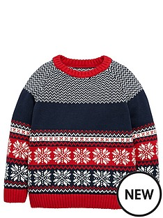 ladybird-toddler-boys-christmas-fairisle-jumper-1-7-years