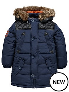 ladybird-boys-pu-trim-quilted-coat-with-borg-lining-12-months-7-years