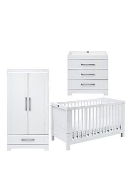Silver Cross Silver Cross Notting Hill Cot Bed, Dresser, Double Wardrobe Picture