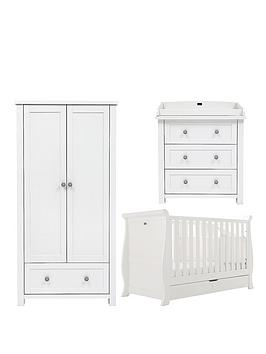 Silver Cross Nostalgia Sleigh Cot Bed Dresser and Wardrobe