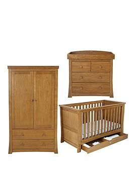Silver Cross Canterbury Cot Bed Dresser and Wardrobe