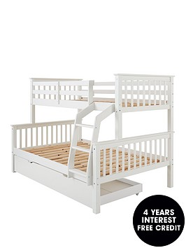 novara-detachable-trio-bunk-bed-in-pine-grey-or-white-with-optional-mattress
