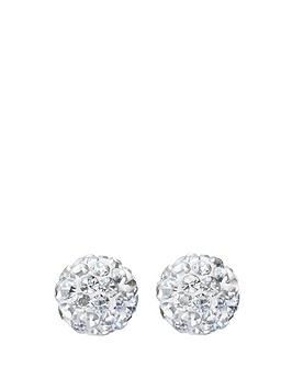 andralok-andralok-9-carat-yellow-gold-6mm-glitterball-crystal-stud-earrings