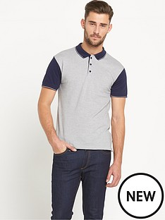 goodsouls-mixed-fabric-blue-polo