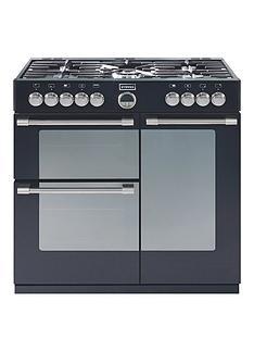 stoves-sterlingnbsp900dft-90cm-dual-fuel-range-cooker-black