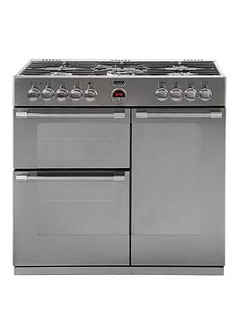stoves-sterling-900dft-90cm-dual-fuel-range-cooker-with-connection-stainless-steel