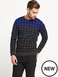 goodsouls-dogtooth-crew-neck-jumper