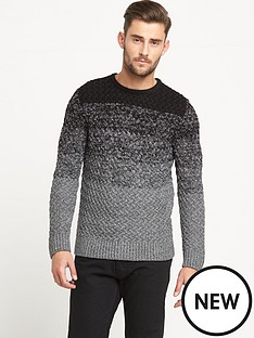 goodsouls-ombre-cable-knit-jumper