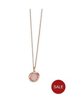 fiorelli-fiorelli-sterling-silver-swirl-rose-quartz-cabouchon-and-cubic-zirconia-long-pendant