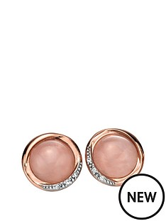 fiorelli-sterling-silver-swirl-rose-quartz-cabouchon-and-cubic-zirconia-earrings