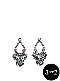 fiorelli-gunmetal-crystal-cluster-statement-earrings