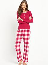 Red Check With Jersey Top PJ