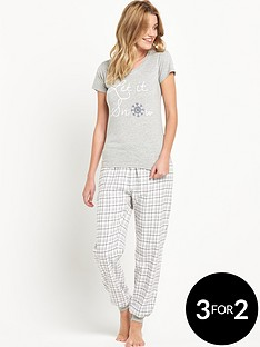 sorbet-gift-wrapped-let-it-snow-pyjamas-set