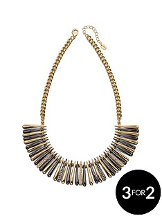 fiorelli-gunmetal-and-gold-crystal-necklace