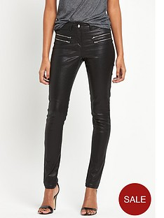 south-double-zip-coated-skinny-jeansnbsp