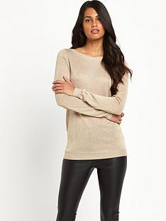south-metallic-drape-back-jumper