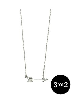 the-love-silver-collection-sterling-silver-arrow-necklet