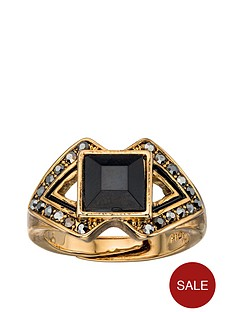 fiorelli-blackened-gold-crystal-and-resin-triangle-ring