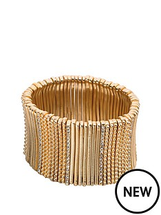 fiorelli-matt-gold-and-crystal-wide-stretch-bracelet